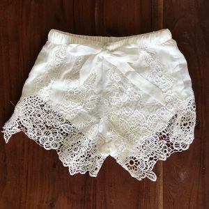 -SALE- White Lace Showpo Shorts